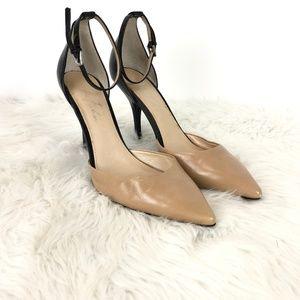 Marc Fisher Nude Black Kiley D'orsay Heels